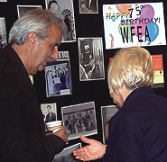 Guests examine exhibits