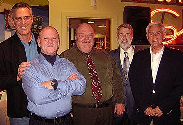 WFEA Alumni: Mike Harrison, Warren Bailey, Dave Emerson, Ed Brouder, Hap Hazard