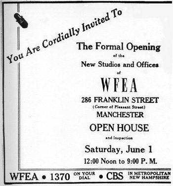 newspaper ad for WFEA's open house