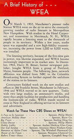 A Brief History of WFEA