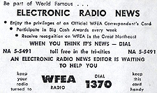WFEA Electronic Radio News wallet card