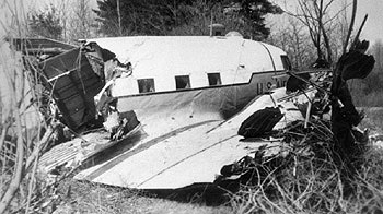 U.S. Air Force C-47 wreckage at Grenier Field in 1956