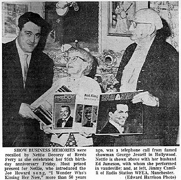 newspaper article on WFEA's Jim Camilli - February 16, 1964