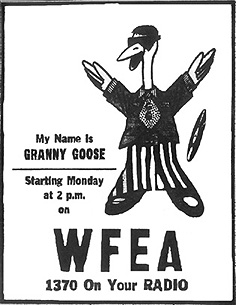 ads for WFEA's Granny Goose - September 5, 1969
