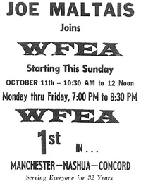 Joe Maltais joins WFEA - October 8, 1964