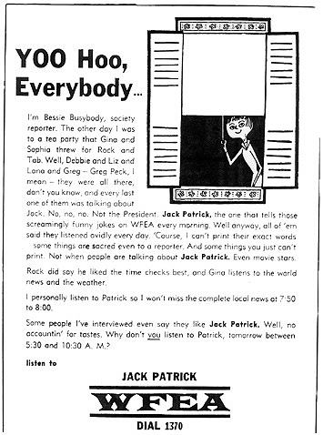 ad for WFEA's Jack Patrick - October 1, 1961